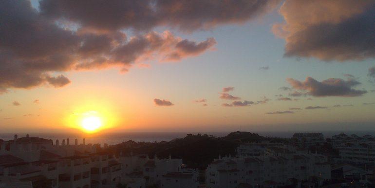 amanecer desde la terraza